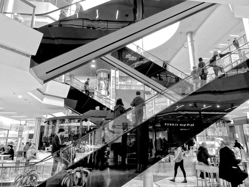 Shopping que representa as lojas no Paraguai