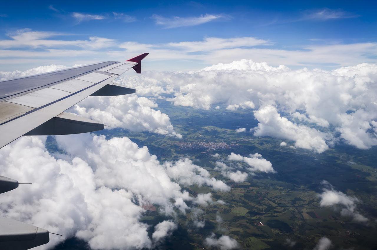 Avião chegando em Foz do Iguaçu