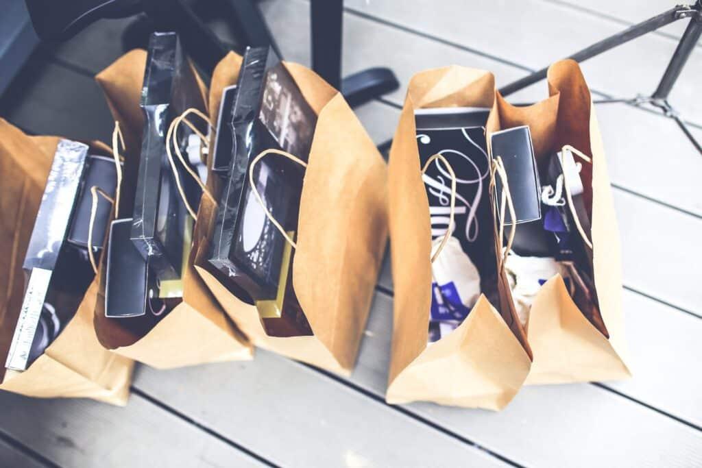 Sacolas de compras de Black Friday no Paraguai