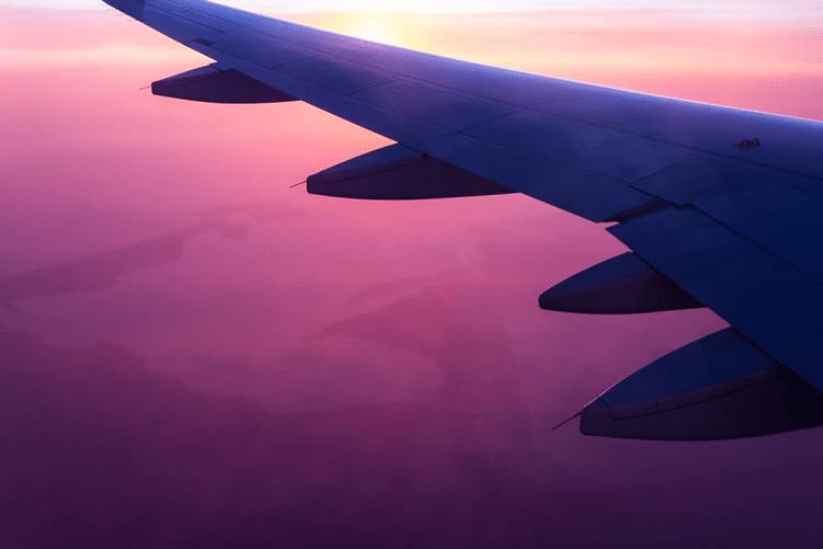 Avião voando para Foz do Iguaçu