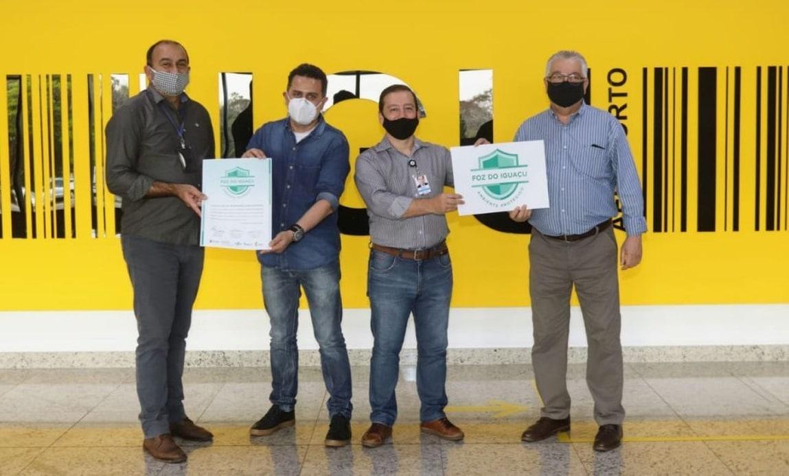 Certificado contra Covid-19 para o Aeroporto de Foz do Iguaçu
