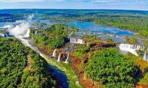Parque Nacional do Iguaçu visto de cima