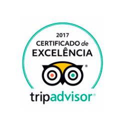 Certificado de Excelência 2017 da Trip Advisor - Del Rey Quality Hotel