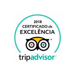 Certificado de Excelência 2018 da Trip Advisor