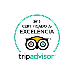 Certificado de Excelência 2019 da Trip Advisor - Del Rey Quality Hotel