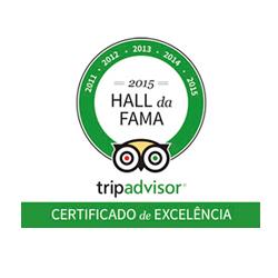 Hall da Fama TripAdvisor de 2011 a 2015