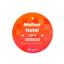 Selo melhor Hotel em 2019 - KAYAK