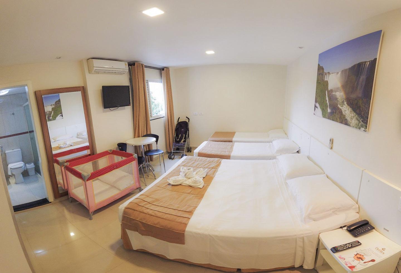 Quarto para Grupos e Famílias em Foz do Iguaçu - Del Rey Quality Hotel