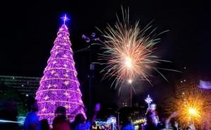 Natal e Ano Novo em Foz do Iguaçu 2020 - Festa e decoração oficial da cidade
