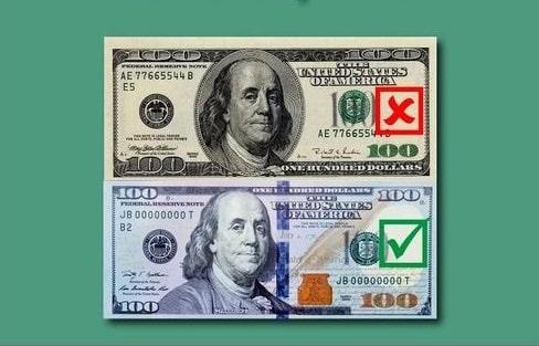 dólares de série antigas no Paraguai