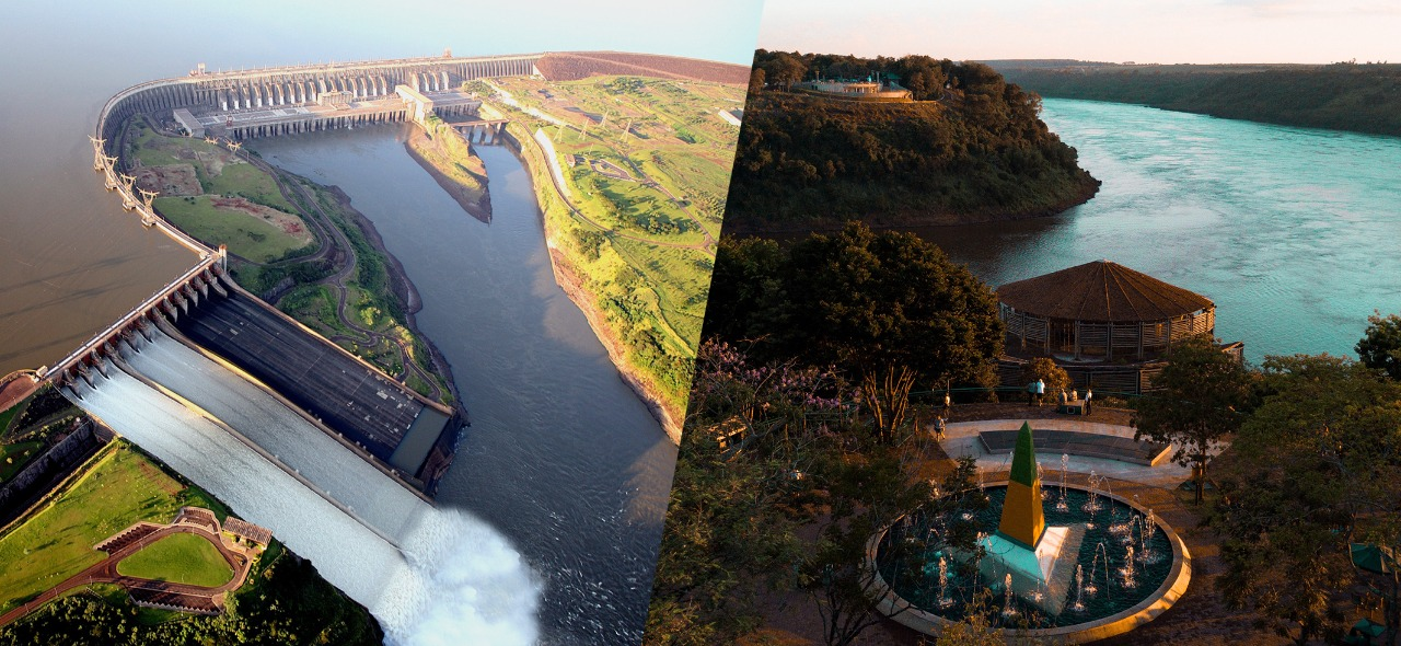 Usina de Itaipu e Marco das três fronteiras em roteiro ideal para visitar Foz do Iguaçu